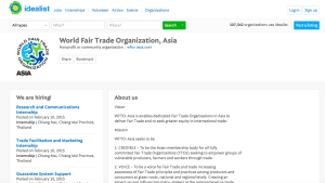 WFTO-Asia Idealist Homepage