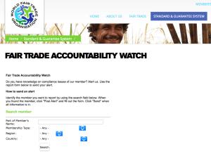 Fair Trade Accountability Watch