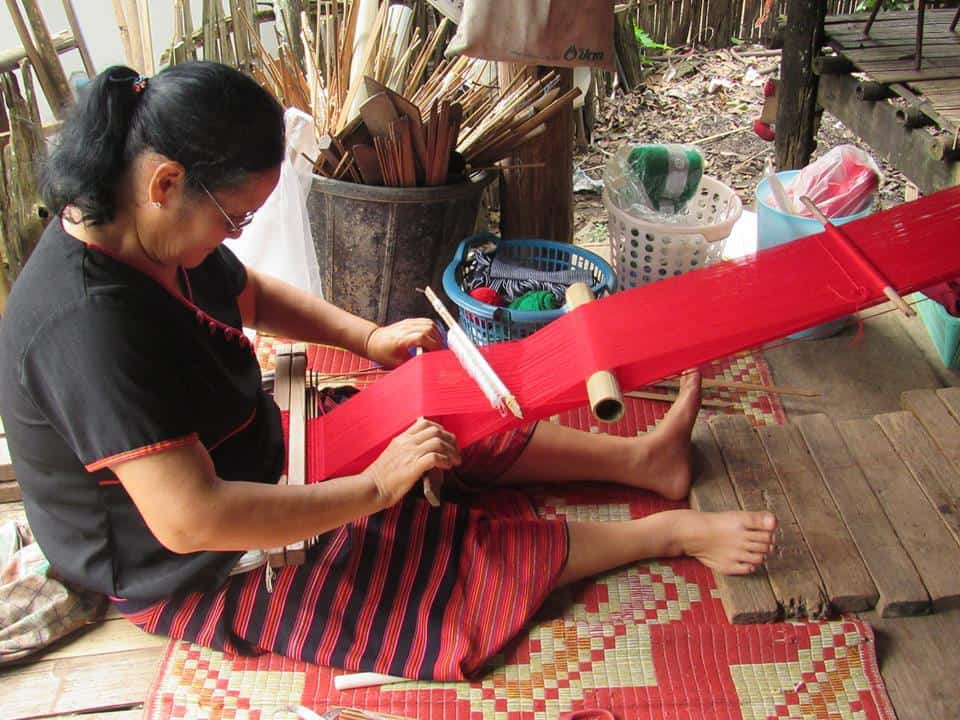 """""""Freedom from poverty means weaving is part of our main family income and a great help to support our children and grand children's education."""" - Thai Tribal Craft"""