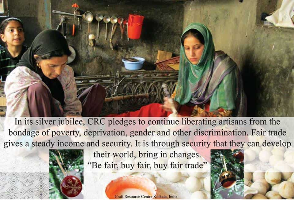 """""""Freedom from poverty means liberating artisans from the bondage of poverty, deprivation, gender exploitation and all other social evils."""" - Crafts Resource Centre"""