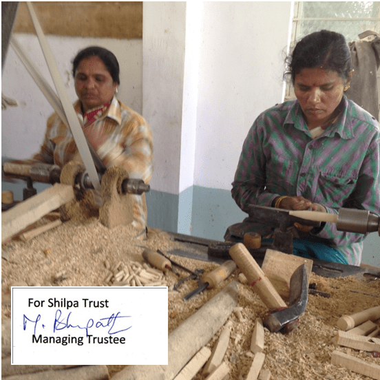 """""""Freedom from poverty means that I can decide and make a decent and sustainable life with my own honest work through Fair Trade."""" - Shilpa Trust"""
