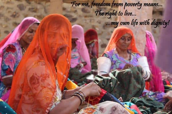 """""""For me, freedom from poverty means, the right to live my own life with dignity."""" - SETU"""