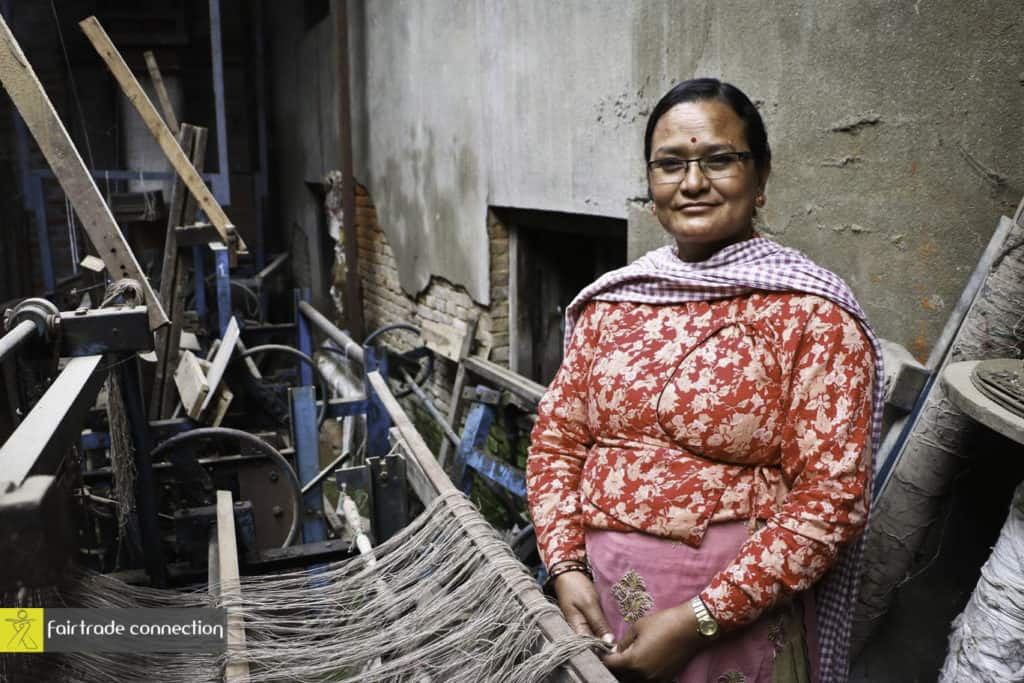 Laxmi Maharjan, Allo Weaver of Manushi, India Photo credit: Fair Trade Connection